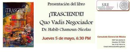 """SRE - Presentación del libro """"TRASCIENDE  Quo Vadis Negociador"""""""